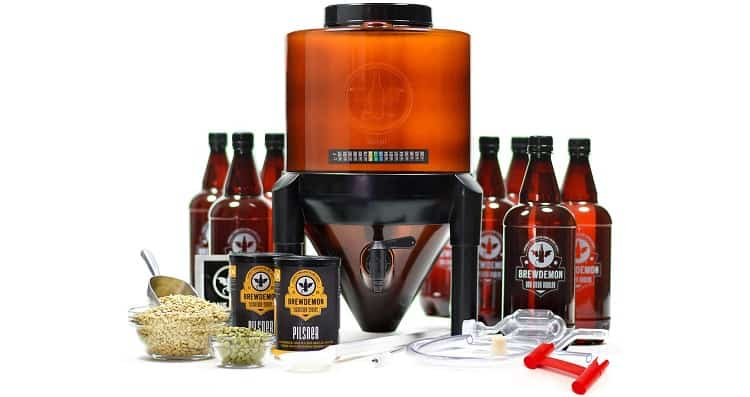BrewDemon Craft Beer Brewing Kit Signature Pro – Best for Fermenting