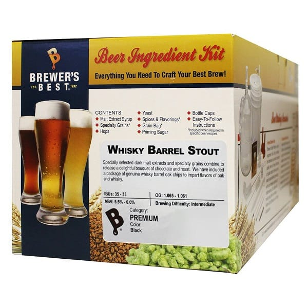 Brewers Best Whiskey Barrel Stout Beer