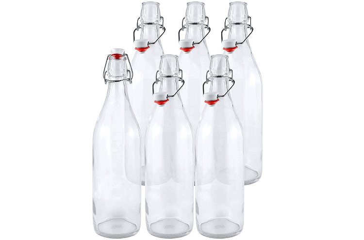 Estilo Round Swing Top Bottles, set of 6 or 12