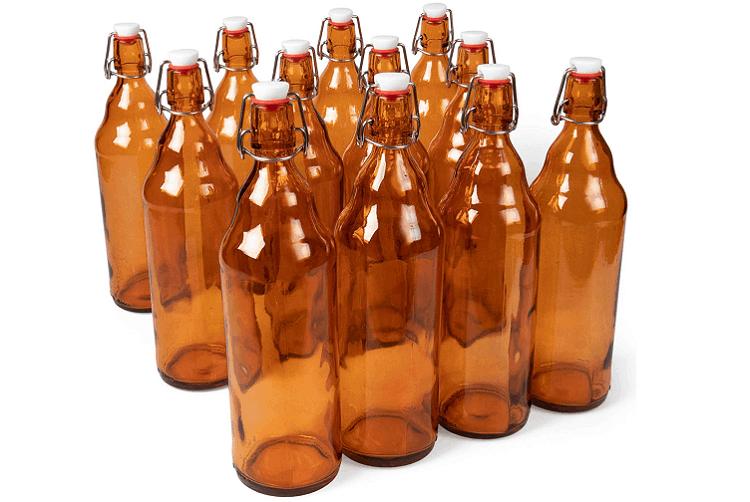 Grolsch Amber Glass Swing Top Bottles