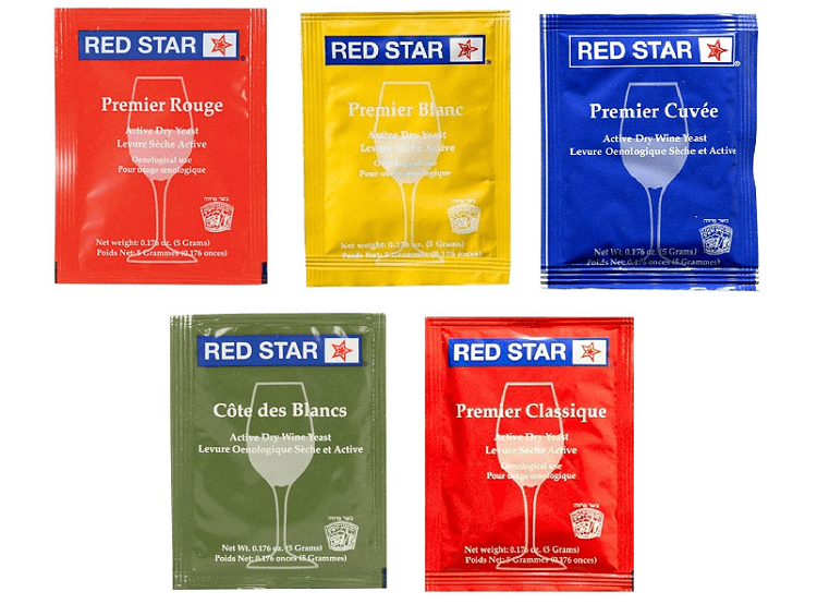 North Mountain Supply Red Star Sampler Pack Wine Yeast